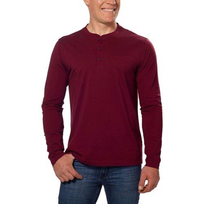 Fig Tailor Vintage Long Sleeve Henley Shirt XL