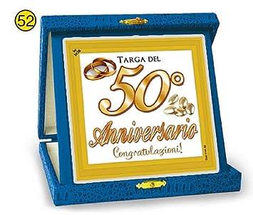 Anniversario Di Matrimonio Scherzi.La Targa Targhetta Del 50 Anniversario Anniversario Di