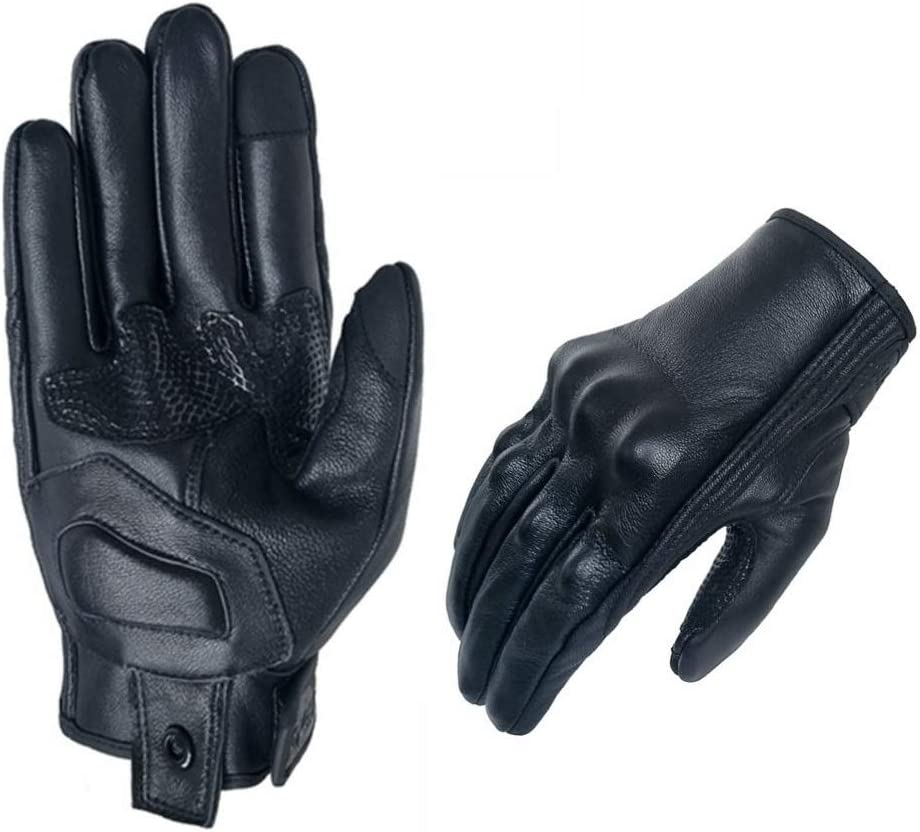 Men/'s Motorcycle Gloves Cold Weather Protective Motorbike Glove Genuine Leather