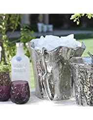 Zodax Artisan Aluminum Ice Bucket With Scoop By Zodax