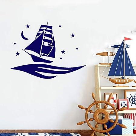 Tatuajes de pared Bebé Bedromm Barco Barco Patrón Vinilo Etiqueta ...
