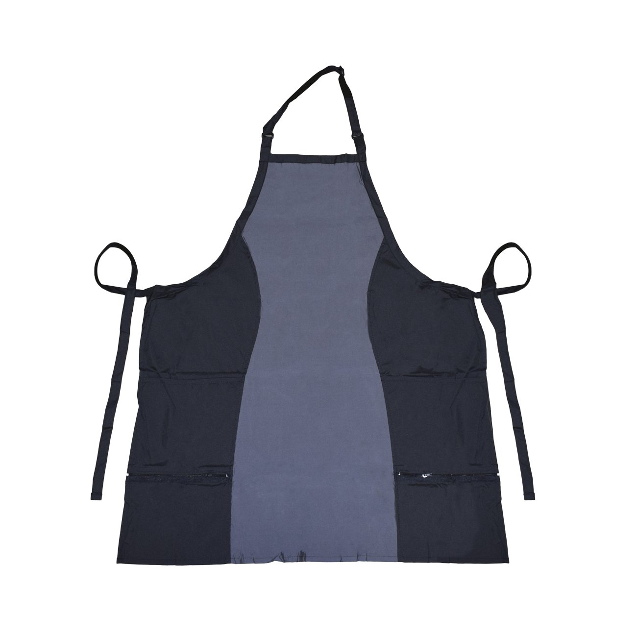 Betty Dain 532 Bleach Proof Hour Glass Apron 0.25-Pound, 1-Count, Black/Pewter