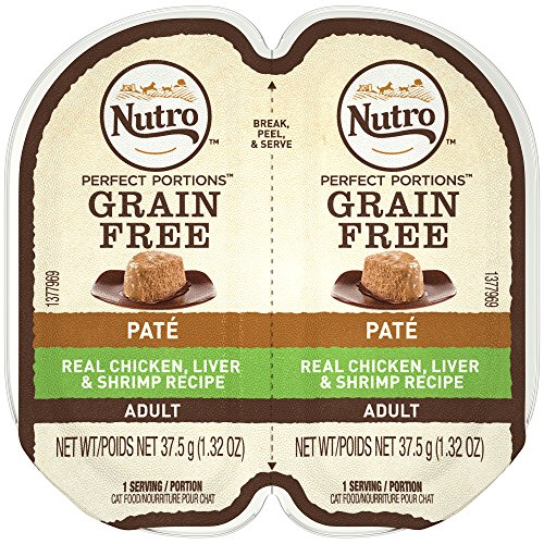 NUTRO PERFECT PORTIONS Pate Real Chicken Liver and Shrimp Wet Cat Food Tray 2.65 Ounces (24 Twin Packs) Review