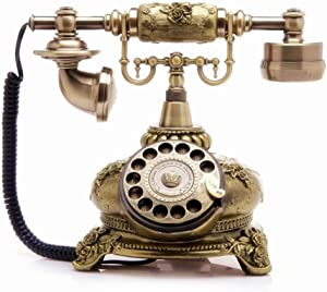 TelPal Retro Vintage Antique Style Corded Rotary Dial Desk Telephone Phone Home Office Decor …