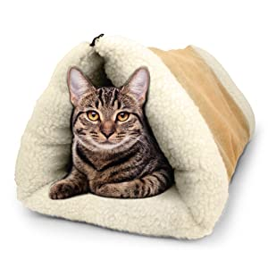 PARTYSAVING PET Palace 2-in-1 Pet Bed Snooze Tunnel and Mat for Pets Cats Dogs and Kittens for Travel or Home