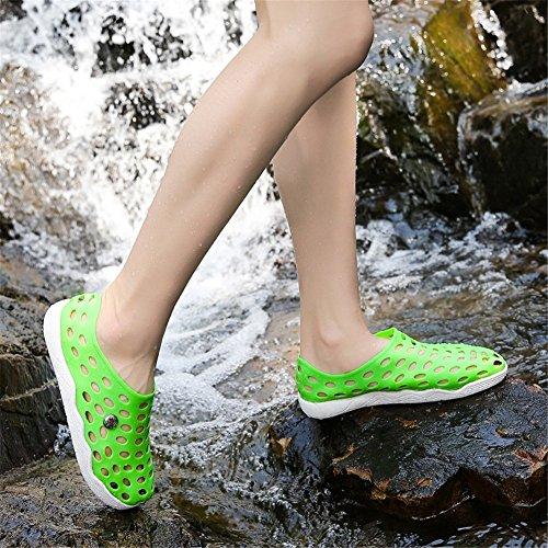 MIMIYAYA Women Mesh Slipper Summer Garden Clogs Lightweight Quick-Dry Walking Sandals Beach Pool Non-Slip Shoes Unisex Adult for Indoor Outdoor 35-40EU Green dSDct7