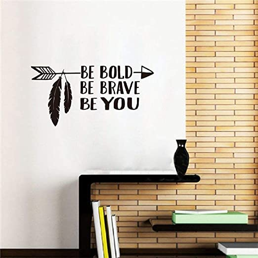 WWYJN Wall Art Decal Be Bold Be Brave Be You Arrow Wall ...