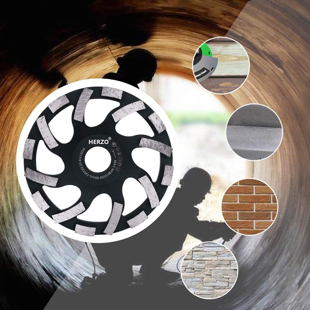Granite Marble Diamond Cup Grinding Wheel 5-inch// 5 for angle grinder Polishing and Cleaning Concrete Masonry Stone