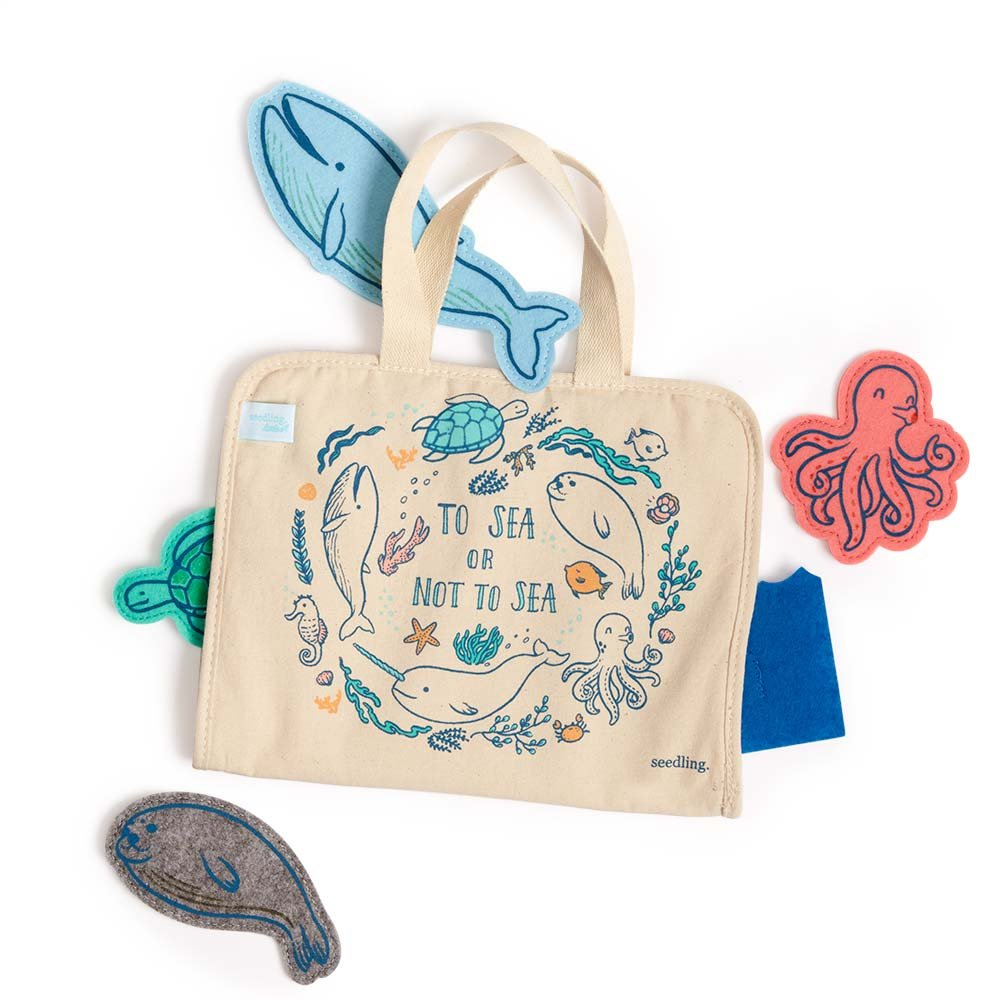 Seedling Littles Under the Sea Puppet Playtime Kit for Toddlers Ages 2-4