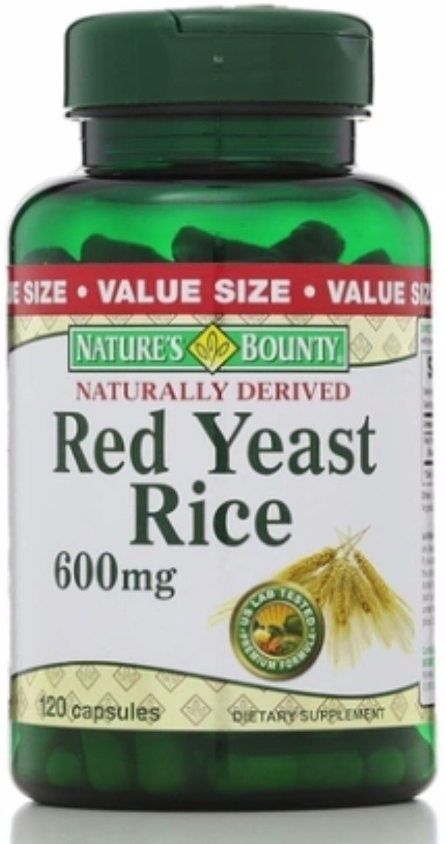 Nature's Bounty Red Yeast Rice 600 mg Capsules 120 ea (Pack of 6)