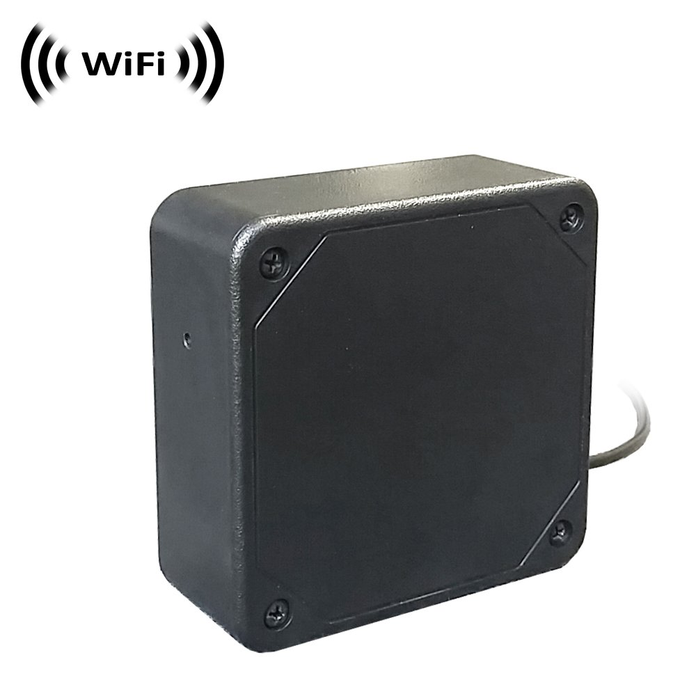 WiFi Spy Camera with Recording & Remote Internet Access; Black Box Style with Flushed Pinhole Lens