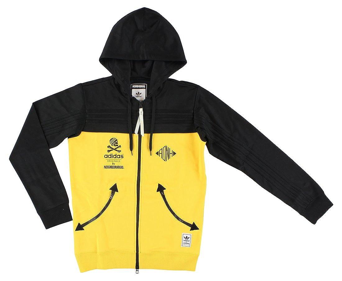 9eec41d33 adidas Mens Originals Neighborhood Zip Up Hoodie Yellow at Amazon Men's  Clothing store: