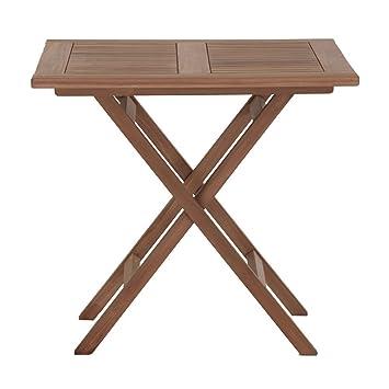 Amazon De Gartentisch Holz Massiv Klappbar Quadratisch Teakholz