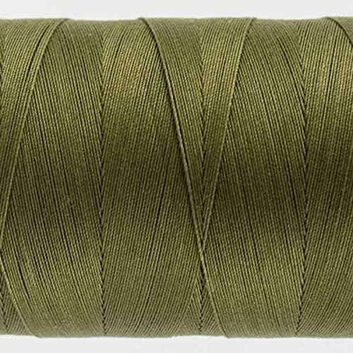 50wt double gassed Egyptian cotton WonderFil Specialty Threads Konfetti Thread Avocado Green