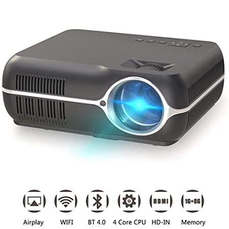 Mengen88 HD Video proyector, WiFi Bluetooth portátil ...