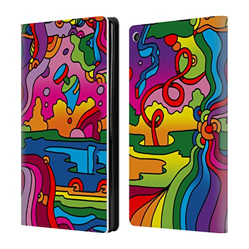 Wallet Mambo (Official Howie Green Pop Art Mambo 216C Landscape Leather Book Wallet Case Cover For Amazon Fire HD 8)