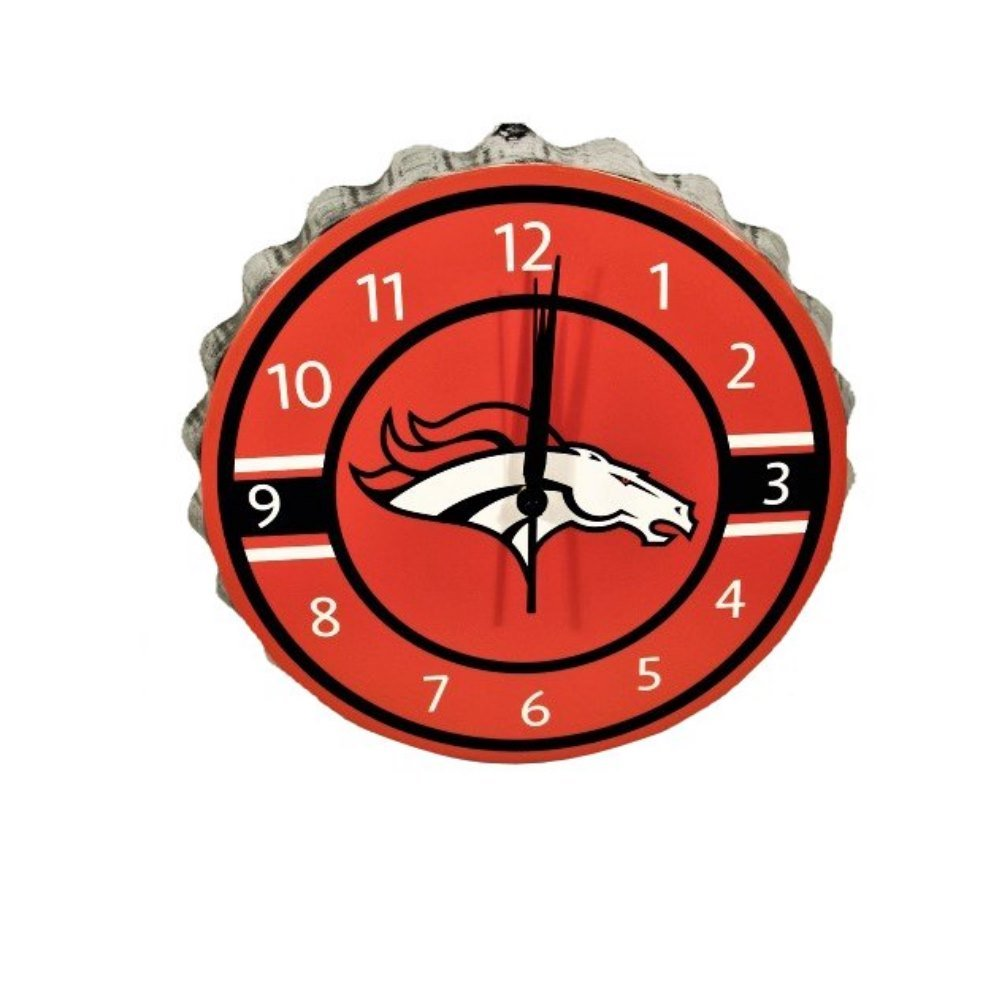 Denver Broncos Bottlecap Clock by FOCO