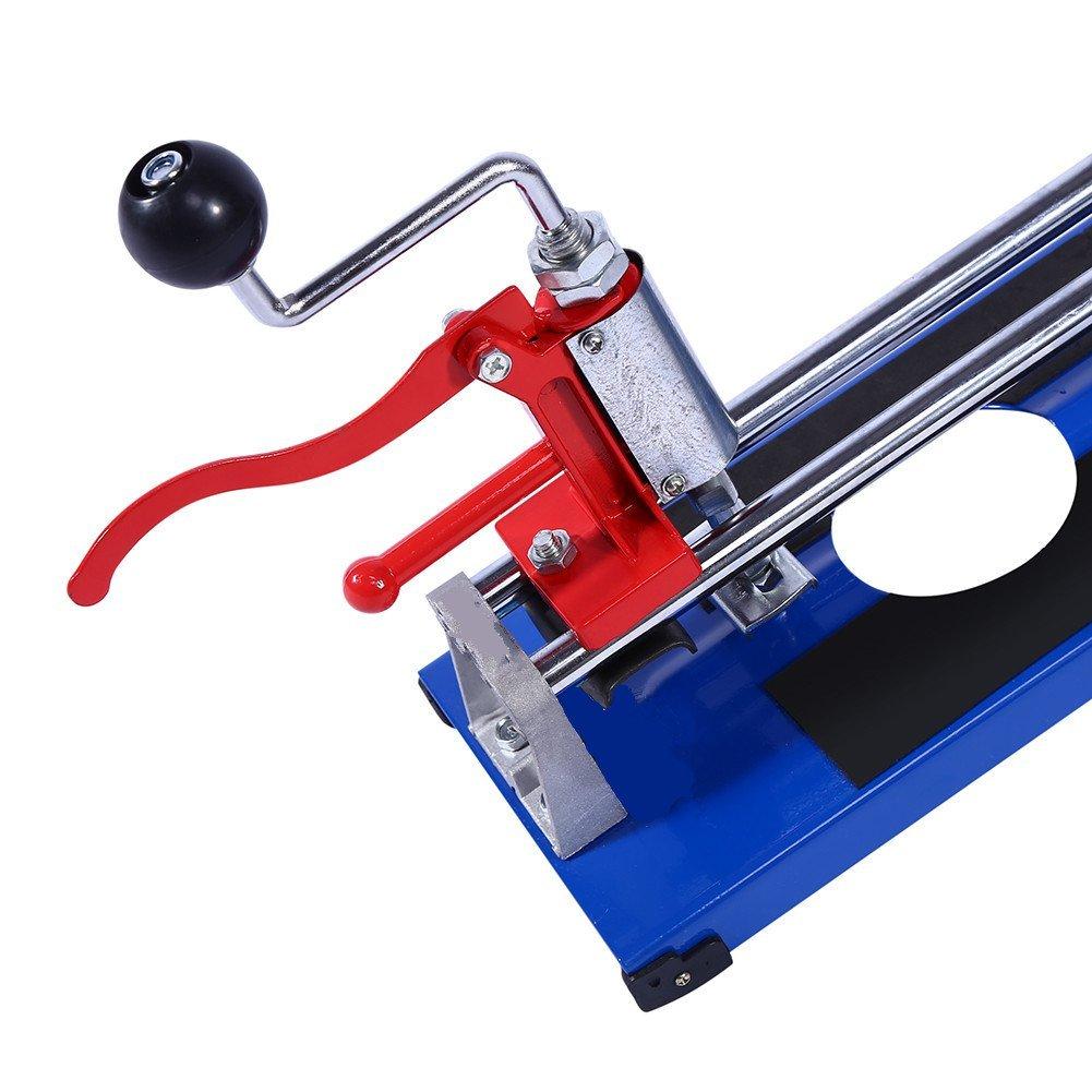 Coupe-carrelage 3 en 1 robuste 600 mm Coupe-carreaux manuel en c/éramique avec tapis antid/érapants coupe droite trous fonction : angle de coupe