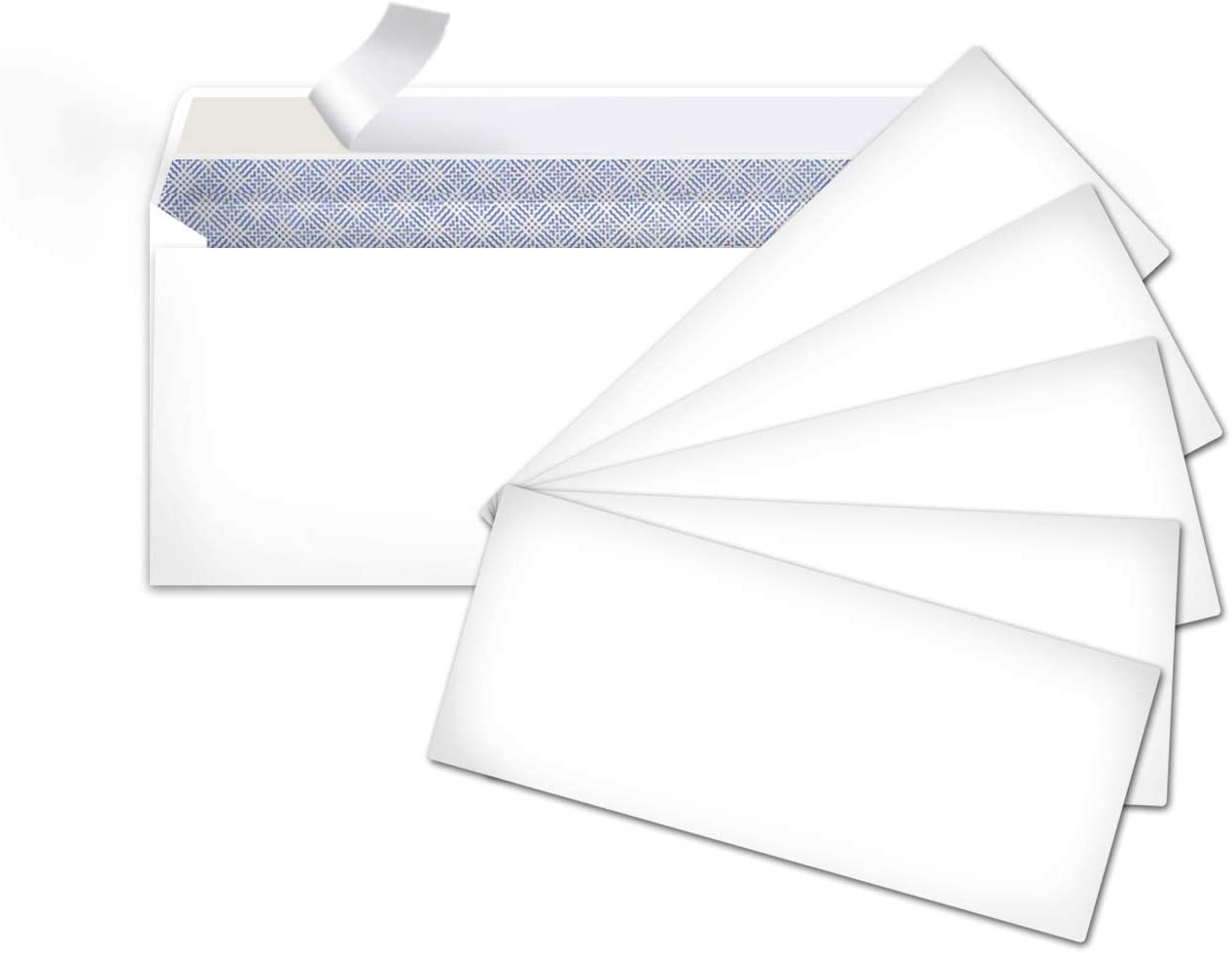 Basics #10 Security-Tinted Envelopes with Peel & Seal, White, 500-Pack - AMZP5 : Office Products