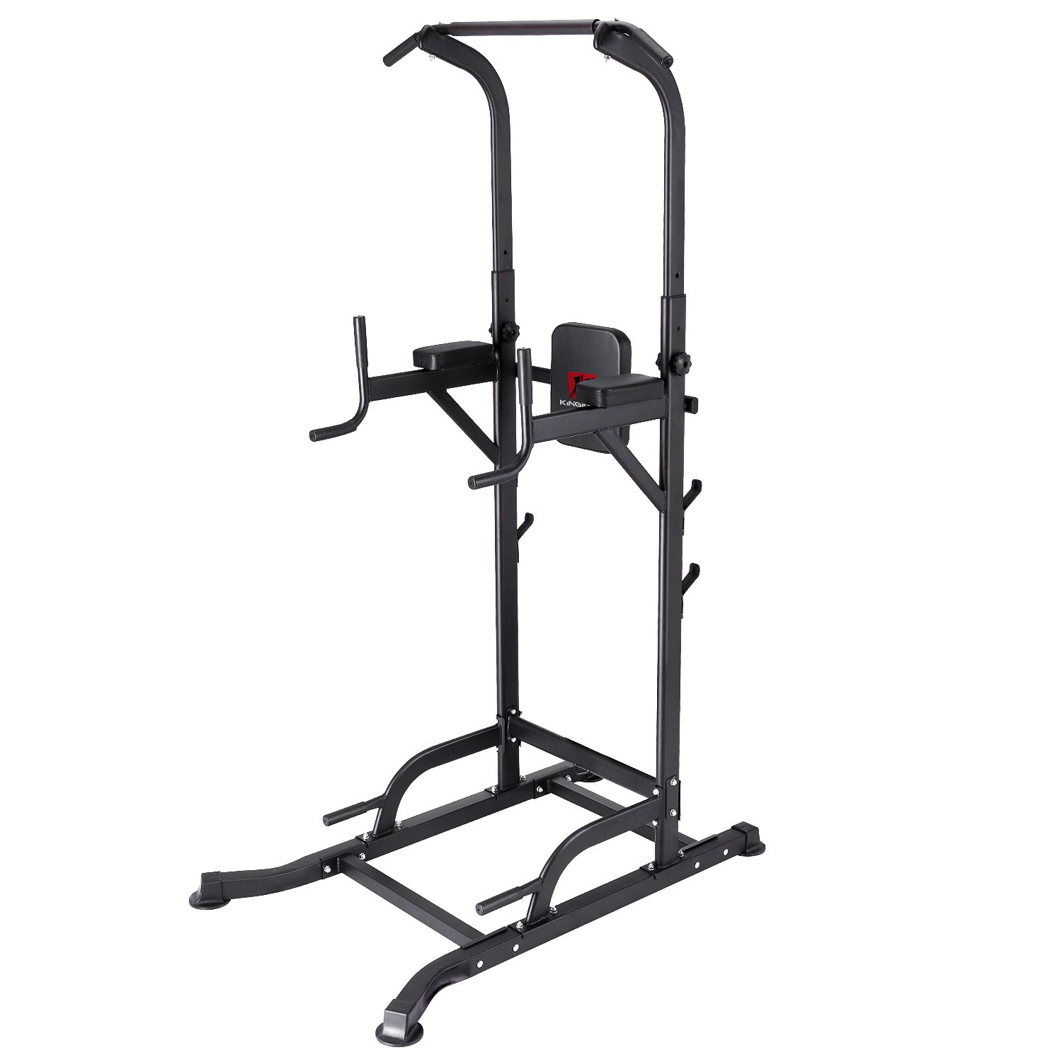 KiNGKANG Power Tower Adjustable Height Multi-Function Home Strength Training Fitness Workout Station