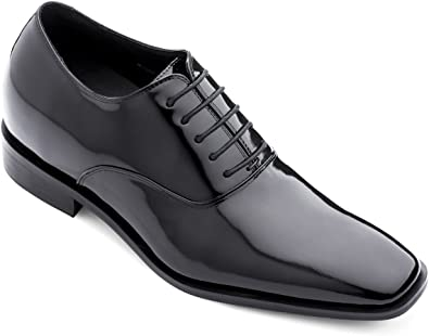 Black Patent Leather Lace-up Formal