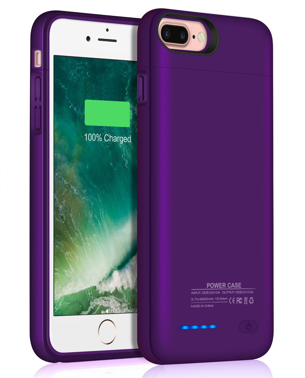 Iphone 8 Plus/7 Plus Battery Case/JUBOTY 4200mAh Slim Rechargable Protective Portable Charging Case for Iphone 8 Plus/7 Plus Juice Power Bank Battery Charger Case by JUBOTY (Image #1)