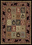 Rugs of Dalton AD3853-0508 Masters Lodge Rug, 5' x 8', Ebony