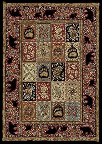 Rugs of Dalton AD3853-0810 Masters Lodge Rug, 8' x 10', Ebony
