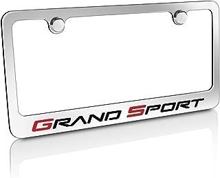product image for Chevrolet Corvette C6 Grand Sport Chrome Metal License Plate Frame