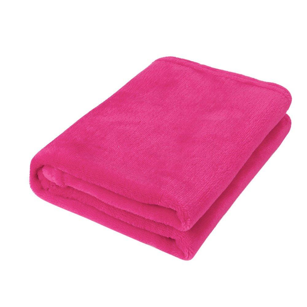 Weiliru Throw Blanket Twin Size Pink Lightweight Throw Blanket Super Soft Cozy Microfiber Blanket by Weiliru (Image #2)