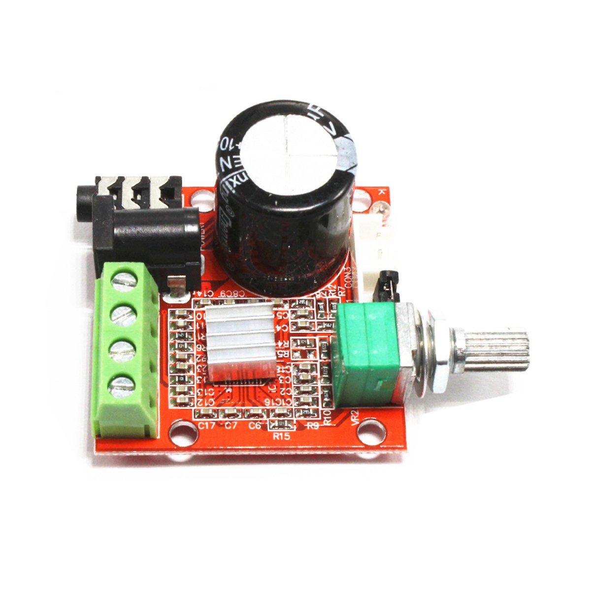 Amazon com megmoki pam8610 mini stereo amp audio amplify board