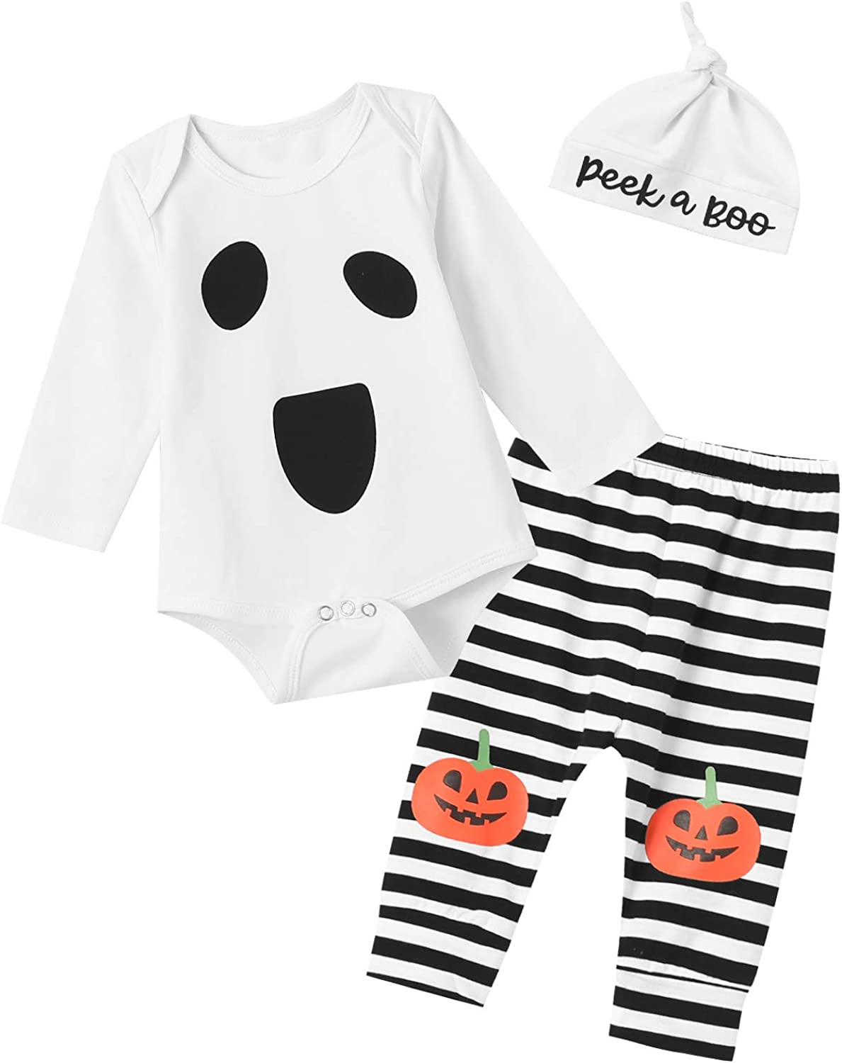 Halloween Baby Bib 1 ST Ghost First Fun Cute Infant Boys Girls Toddler costume