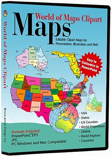 World of Maps Clip Art