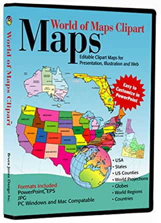 Amazon.com: World of Maps Clip Art: Software