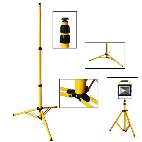 Hengda® Telescopio trípode para Lámpara Foco LED faro trabajo halógena Telescopio trípod