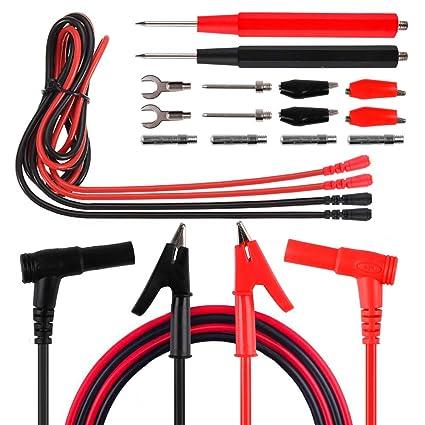 Multimeter Test Lead Set Cable Pen Clips Electronic Test Lead Accessory Kit 8pcs