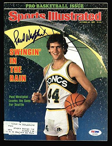 Sonics Paul Westphal Signed 1980 Sports Illustrated Magazine PSA/DNA #Q12428