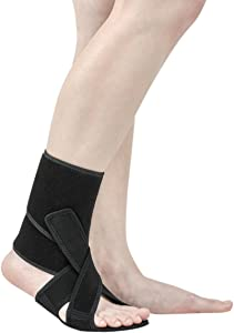NEOFECT Drop Foot Brace - Breathable Neoprene, Foot Drop, Adjustable Ankle Brace, Achilles Tendonitis, Plantar Fasciitis, Stroke, TBI, ALS, MS, Bone Fracture, AFO, ASO (Left)