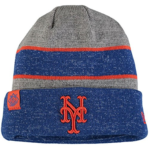 New Era New York Mets On Field Sport Knit Beanie Heathered Gray/Heathered Royal
