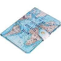 Fdit Titular del pasaporte cartera protectora Premium sintética