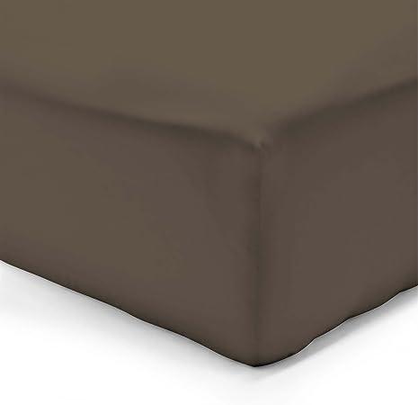 Vision - Sábana bajera, 100% algodón, Marrón (Chocolate), 180 x 200 cm: Amazon.es: Hogar