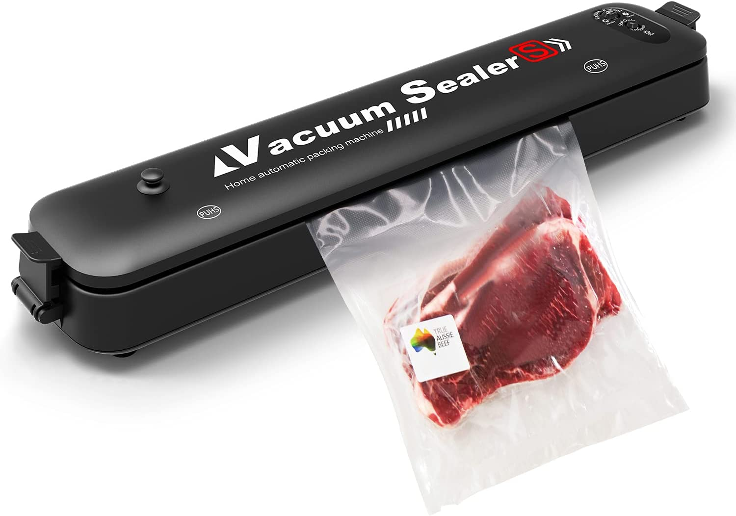 Vacuum Sealer Machine,Kuled Professional Automatic Vacuum Sealing System for Food Preservation Dry & Moist Food Modes Vacuum Packaging Machine Black With 15 PCS Sealer Bags