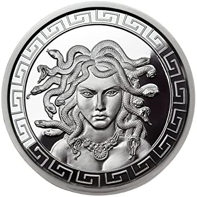 MEDUSA PROOF 1 OZ SILVER ROUND ANONYMOUS MINT WITH COA
