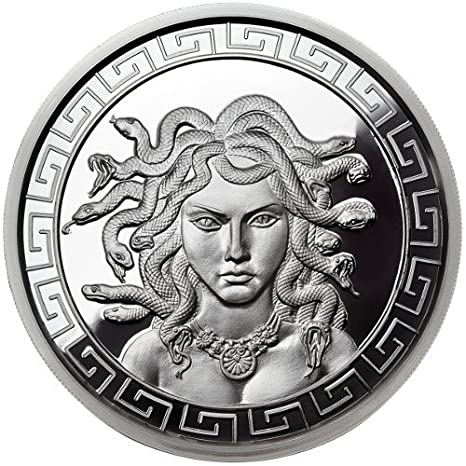 THE AZTEC WARRIOR 1 OZ SILVER COIN ROUND Warrior Series #2 of 6 IN CAPSULE