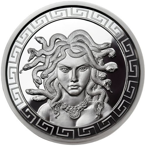 1 oz Proof-like Medusa Silver Round (New w/CoA)