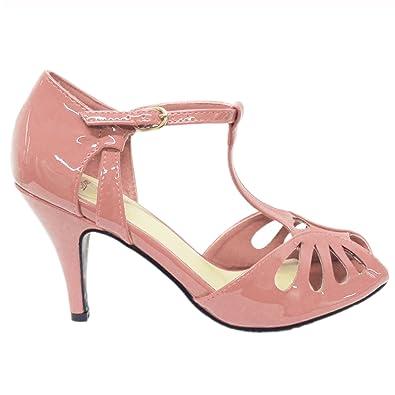 Dancing Days Secret Love Vintage Retro 1940s 1950s Patent Heeled Shoes  Sandals
