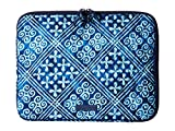 Vera Bradley Women's Laptop Sleeve Cuban Tiles Laptop Bag