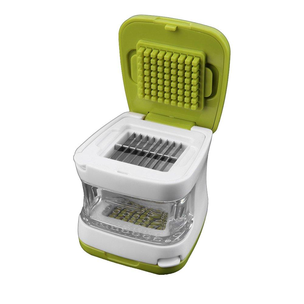 Lautechco® Multifunction Plastic Garlic Press Presser Crusher Slicer Grater Dicing Slicing and Storage Kitchen Vegetable Tool 4335508555