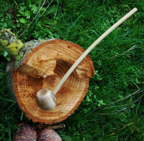 (Hobbit Pipe LoTR Churchwarden Handmade in USA All Wood 14 inch)