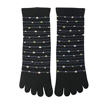Japanese Tabi Socks Five Finger Design Dots at Men's Clothing store